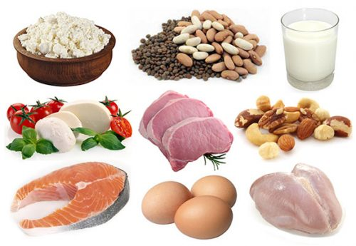 thuc pham giau protein sau sinh