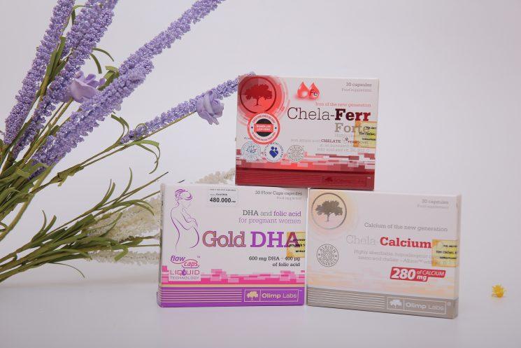 Bộ 3 vi chất sắt - canxi - Dha vitamin tốt cho bà bầu