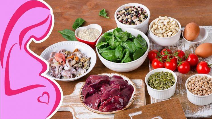 Các loại vitamin tốt cho bà bầu - Thực phẩm giàu sắt