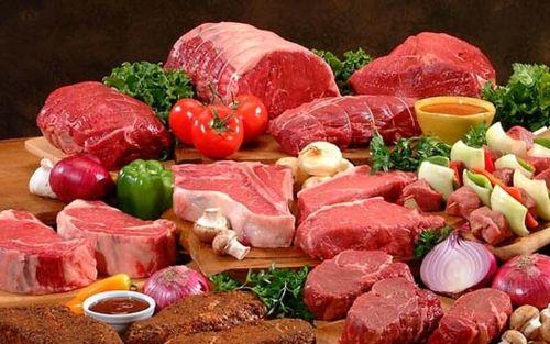 Trong 100g thịt nạc đỏ (thị bò, trâu, dê, cừu) có chứa 2.5 - 3mg sắt heme